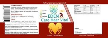 VITARAGNA Eden Care Haar Vital Komplex 180 Tabletten mit Hirse und Biotin für eine gesunde Haarpflege, Haar-Vitalstoffe und Haar-Vitamine als Haar-Kur, hochdosiert - 2