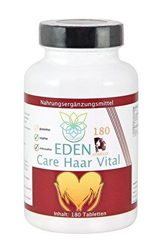 VITARAGNA Eden Care Haar Vital Komplex 180 Tabletten mit Hirse und Biotin für eine gesunde Haarpflege, Haar-Vitalstoffe und Haar-Vitamine als Haar-Kur, hochdosiert - 1