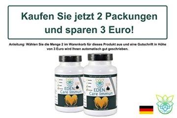VITARAGNA Eden Care Immun-Booster Plus 120 Kapseln Complex mit Acerola-Pulver & Kräutern, Immunsystem stärken, ein Immune System Boost hochdosiert - 5