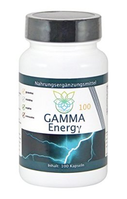 VITARAGNA Gamma Energy Guarana + Koffein 100 Kapseln, Energie-Booster für mehr Wachheit, Aufmerksamkeit, Leistung, Fokus und Aktivität. Energybooster pur, clean - 1