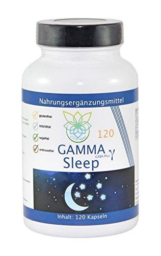 VITARAGNA Gamma Sleep GABA 120 Kapseln Schlaf-Optimierer mit Gamma-Aminobuttersäure, Durchschlafen ohne Schlaftabletten, Relax & Entspannung, Anti-Stress, Ruhe & Regeneration - 1