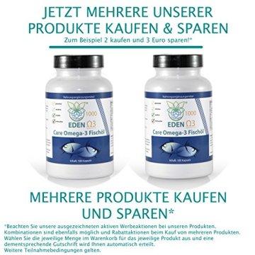 VITARAGNA Omega 3 Fischöl-Kapseln 33 / 22 , EPA / DHA mit natürlichem Vitamin E, hochdosiert mit hohem EPA und DHA Anteil - 5