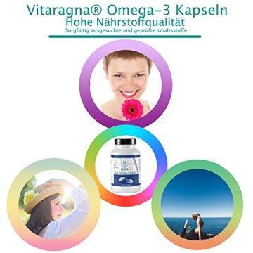 VITARAGNA Omega 3 Fischöl-Kapseln 33 / 22 , EPA / DHA mit natürlichem Vitamin E, hochdosiert mit hohem EPA und DHA Anteil - 7