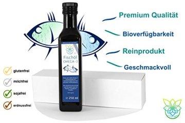 VITARAGNA Omega 3 Fischöl (Lachsöl) mit Zitronenöl und Rosmarin-Extrakt, 250ml, mit natürlichem Vitamin E-Tocopherol-Komplex, Hoher EPA und DHA Anteil - 3