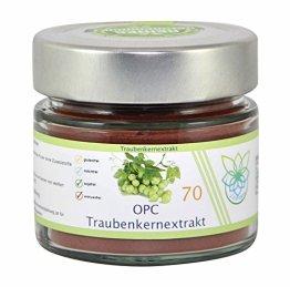 VITARAGNA OPC Traubenkernextrakt 70, hochdosiertes Qualitätsprodukt (Pulver) aus den Kernen von weißen Trauben mit 95% OPC, vegan - 1