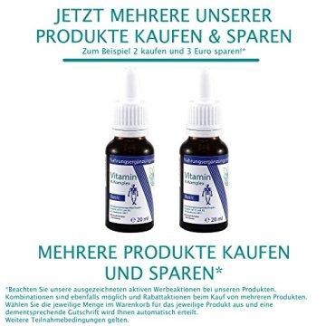 VITARAGNA Vitamin K2 Basic Tropfen flüssig, K1 und K2 - Menaquinon MK7, hochdosiertes Liquid in MCT-Öl gelöst und bioaktiver MK-7-Form 20ml mit 500 mcg K-Komplex x 30 Portionen - 5