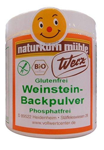 Werz Weinstein Backpulver glutenfrei 2er Pack (2 x 150 g Dose) – Bio -