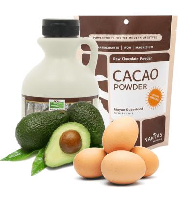mint chocolate chip paleo brownies with avocado