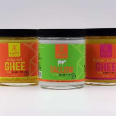 Gather Superfoods Grassfed Ghee and Grassfed Tallow Certified Paleo