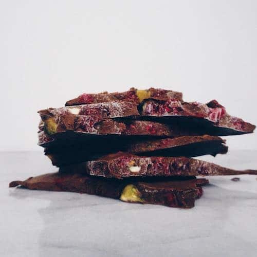 Chocolate Bark with pistachio goji berries - CACOCO - Certified Paleo, Paleo Vegan - Paleo Foundation