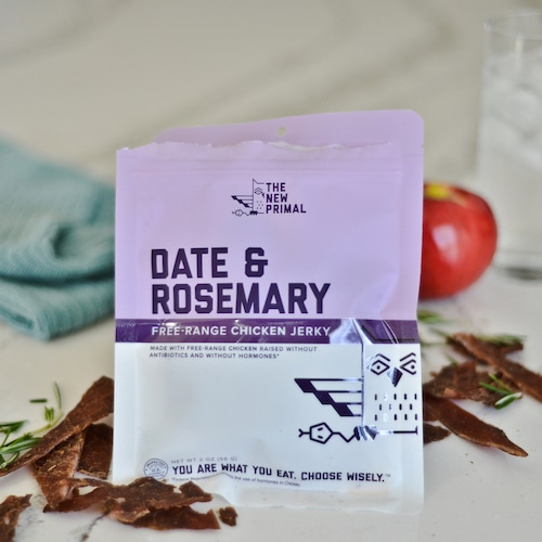 Date & Rosemary Chicken Jerky 1 - The New Primal - Certified Paleo, KETO Certified - Paleo Foundation