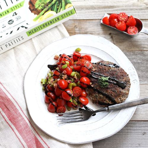 Cherry tomatoes & Mediterranean Style - Tribalí Foods Organic 100% Grass-fed Beef - Certified Paleo - Paleo Foundation