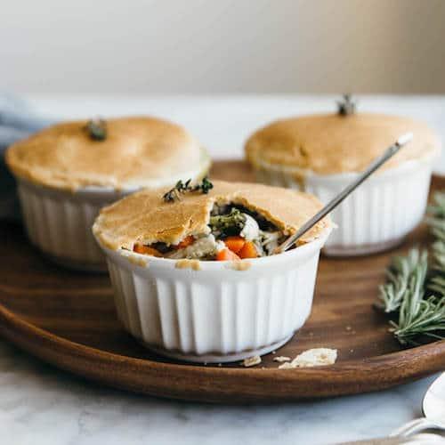 Mini Chicken Pot Pies - Otto's Cassava Flour - Certifed Paleo, Paleo Vegan - Paleo Foundation