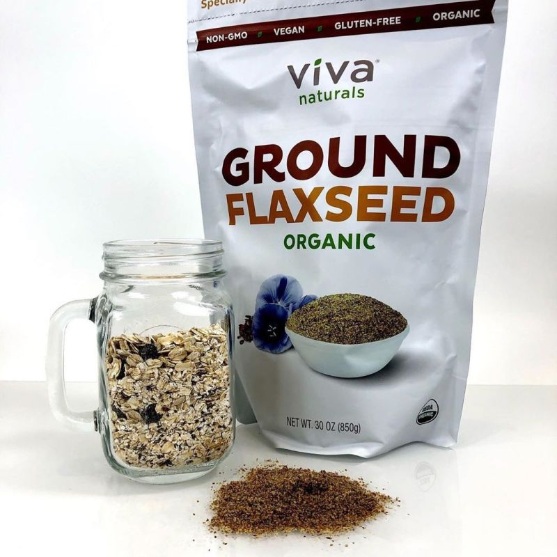 Organic Ground Flaxseed - Viva Naturals - Certified Paleo, KETO Certified by the Paleo Foundation