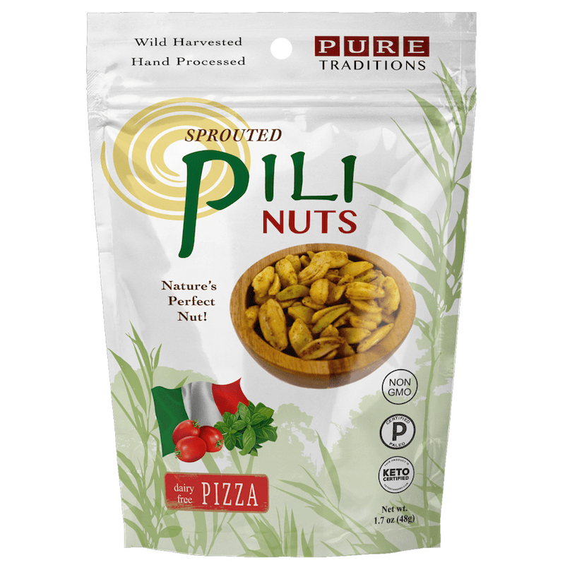 Pizza Pili Nuts - Pure Traditions - Certified Paleo, KETO Certified by the Paleo Foundation