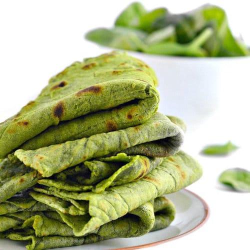 Otto's Naturals Cassava Spinach Tortillas - Otto's Cassava Flour - Certifed Paleo, Paleo Vegan - Paleo Foundation