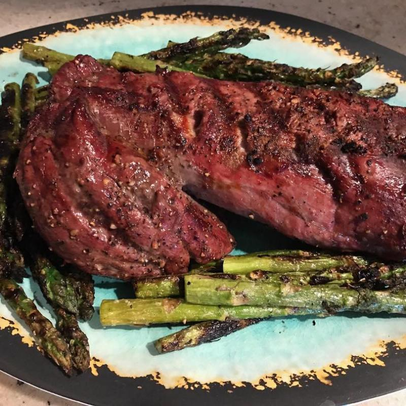 Tenderloin Roast with Grilled Asparagus - Panorama Meats - Certified Paleo, Paleo Approved - Paleo Foundation