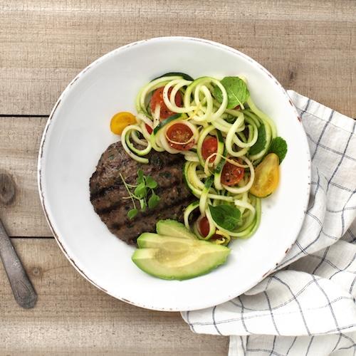 Zucchini Noodles - Tribalí Foods Organic 100% Grass-fed Beef - Certified Paleo - Paleo Foundation