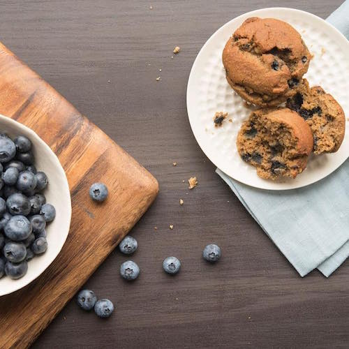 Muffin + Blueberries - Soozy's Muffins - Certified Paleo - Paleo Foundation