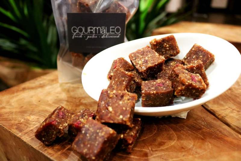 Dessert Bars - Gourmaleo was founded to provide a gourmet meal delivery option consisting of healthy, real food ingredients with integrity. We strive to provide clients with a convenient option while meeting the highest standards of quality in our proteins and produce. #certifiedpaleo #paleo