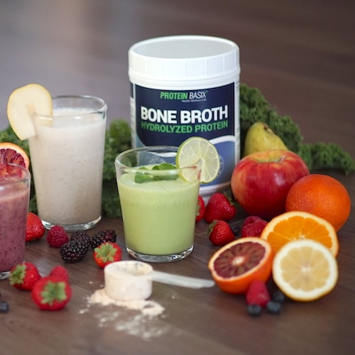 Bone Broth Hydrolyzed Protein Powder & Grass-fed Hydrolyzed Collagen Peptides 6 - Protein Basix - Certified Paleo - Paleo Foundation