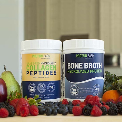 Bone Broth Hydrolyzed Protein Powder & Grass-fed Hydrolyzed Collagen Peptides 7 - Protein Basix - Certified Paleo - Paleo Foundation