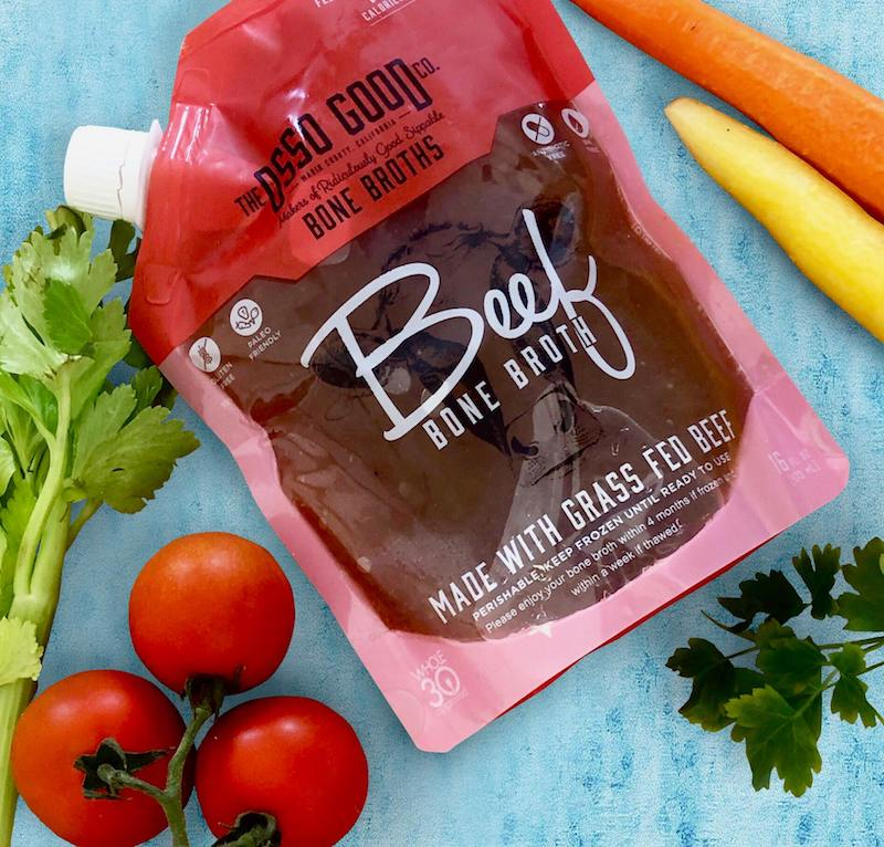 Organic, Antibiotic Free Grassfed Beef Bone Broth Certified Paleo Certified Grain Free Gluten Free