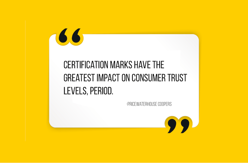 Pricewaterhouse coopers Certification marks consumer trust Quote