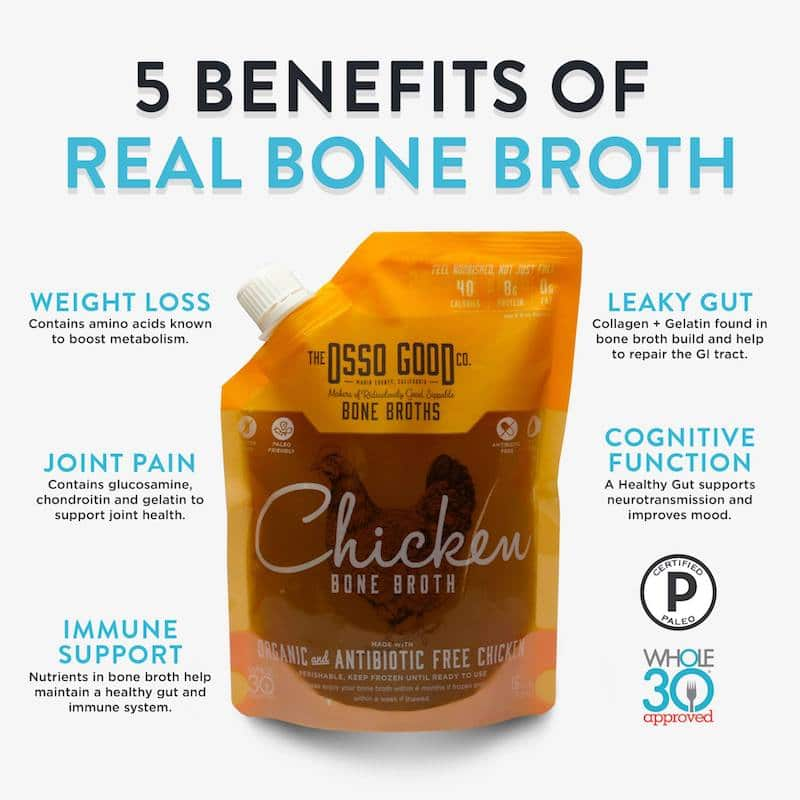 Whole30 Approved Osso Good Chicken Bone Broth Certified Paleo Certified Grain Free Gluten Free