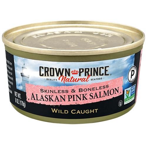 Natural Skinless & Boneless Pink Salmon - Crown Prince Seafood - Certified Paleo - Paleo Foundation