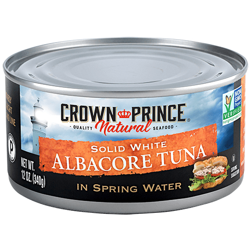 Natural Solid White Albacore Tuna - Crown Prince Seafood - Certified Paleo - Paleo Foundation