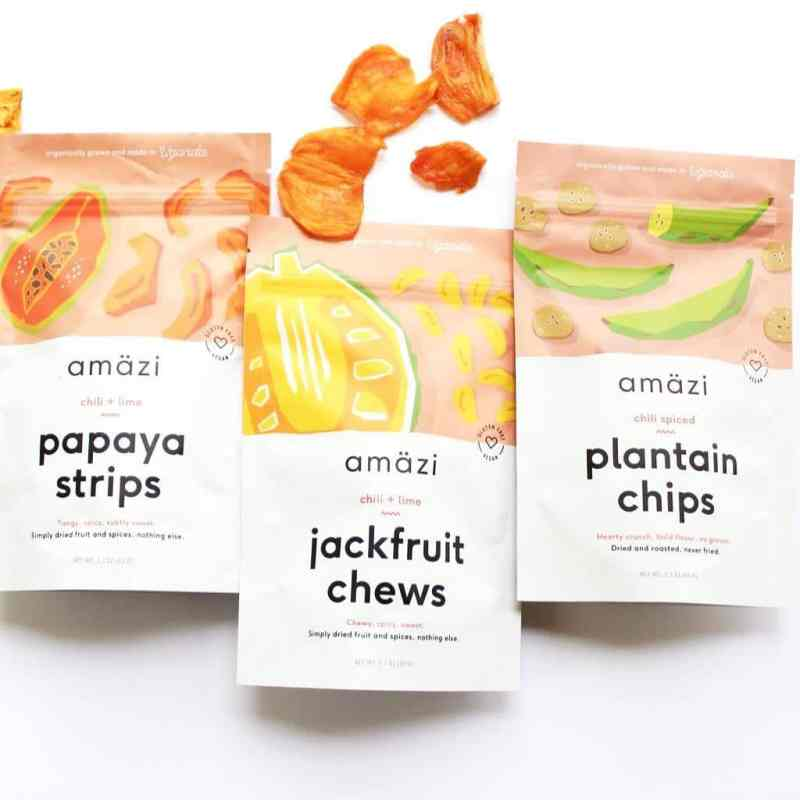 Plantains, Papaya Strips, & Jackfruit Chews - Amazi - Certified Paleo - Paleo Foundation