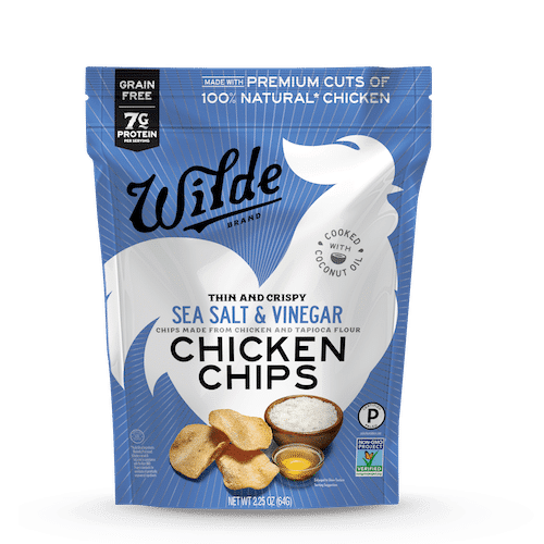 Sea Salt & Vinegar Chicken Chips - Wilde Brands - Certified Paleo - Paleo Foundation