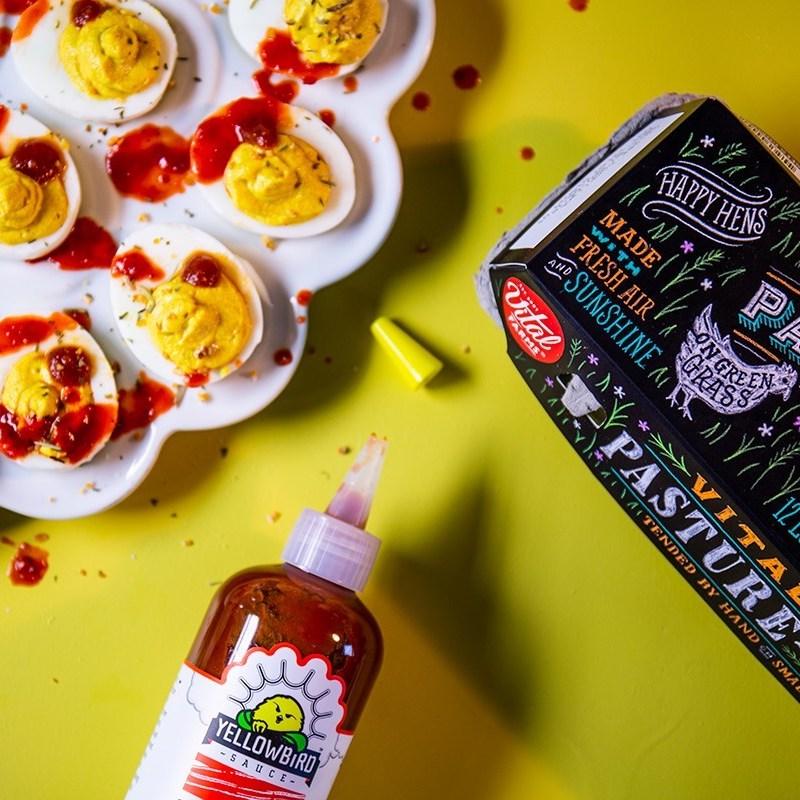 Spicy Deviled Eggs - Yellowbird Foods - Certified Paleo, PaleoVegan, KETO Certified - Paleo Foundation
