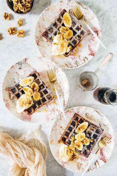 Paleo Banana Bread Waffles