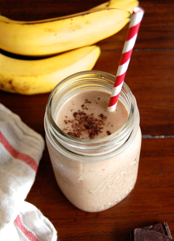 Image result for CHOCOLATE-ALMOND BANANA SMOOTHIE