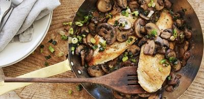 Garlic Mushroom Smothered Chicken