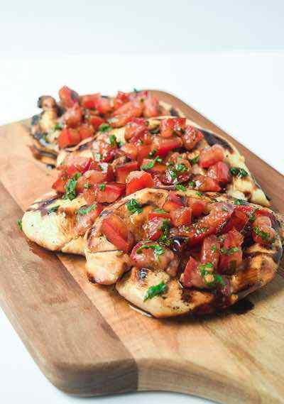 Whole30 Bruschetta Grilled Chicken