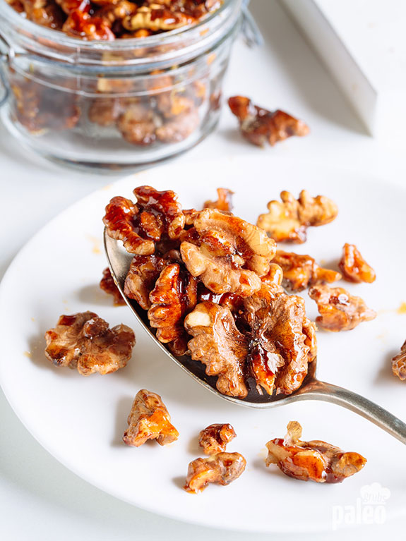 Cinnamon Roasted Walnuts are the perfect snack to-go or a treat for when guests pop by.