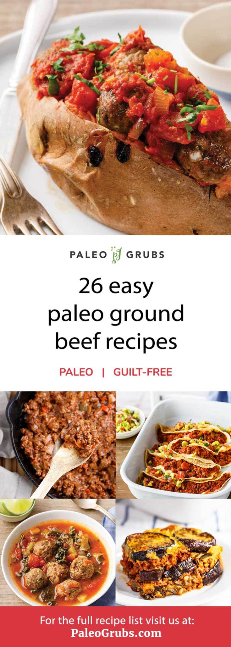 Here is a great list of delicious paleo ground beef recipes. These are so easy to make and one of my favorites when I need to pull together a quick meal.