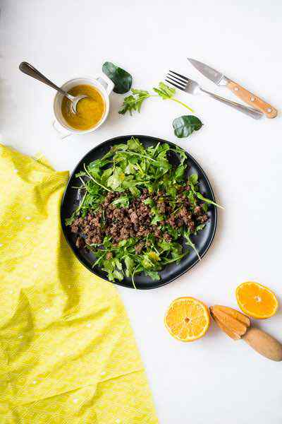 Citrus Ground Beef Stir Fry