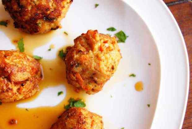 Baked Ground Turkey Asian Meatballs