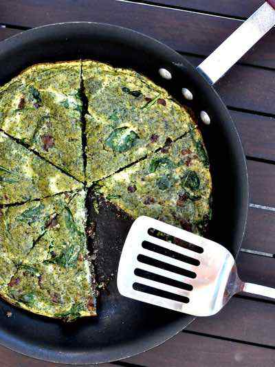 Green Eggs and Ham Paleo Frittata