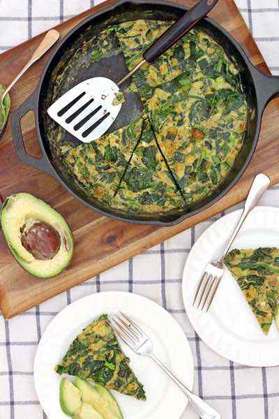 Green Machine Zucchini and Spinach Frittata