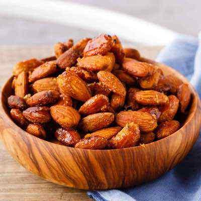 Honey Mustard Roasted Almonds