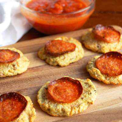 Pepperoni Cauliflower Paleo Pizza Bites