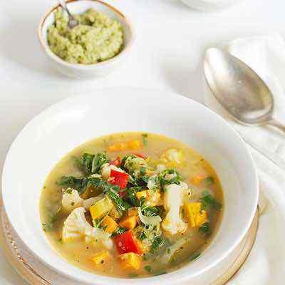 Summer Garden Vegetable Paleo Soup