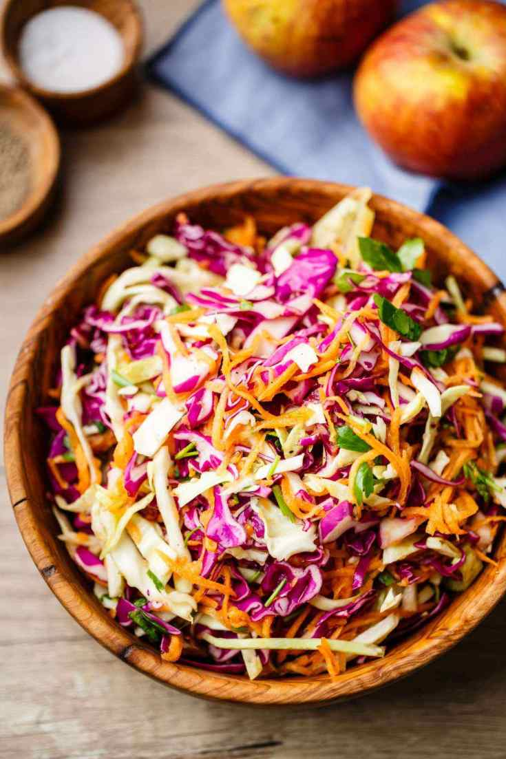 Apple Cider Vinegar Paleo Coleslaw