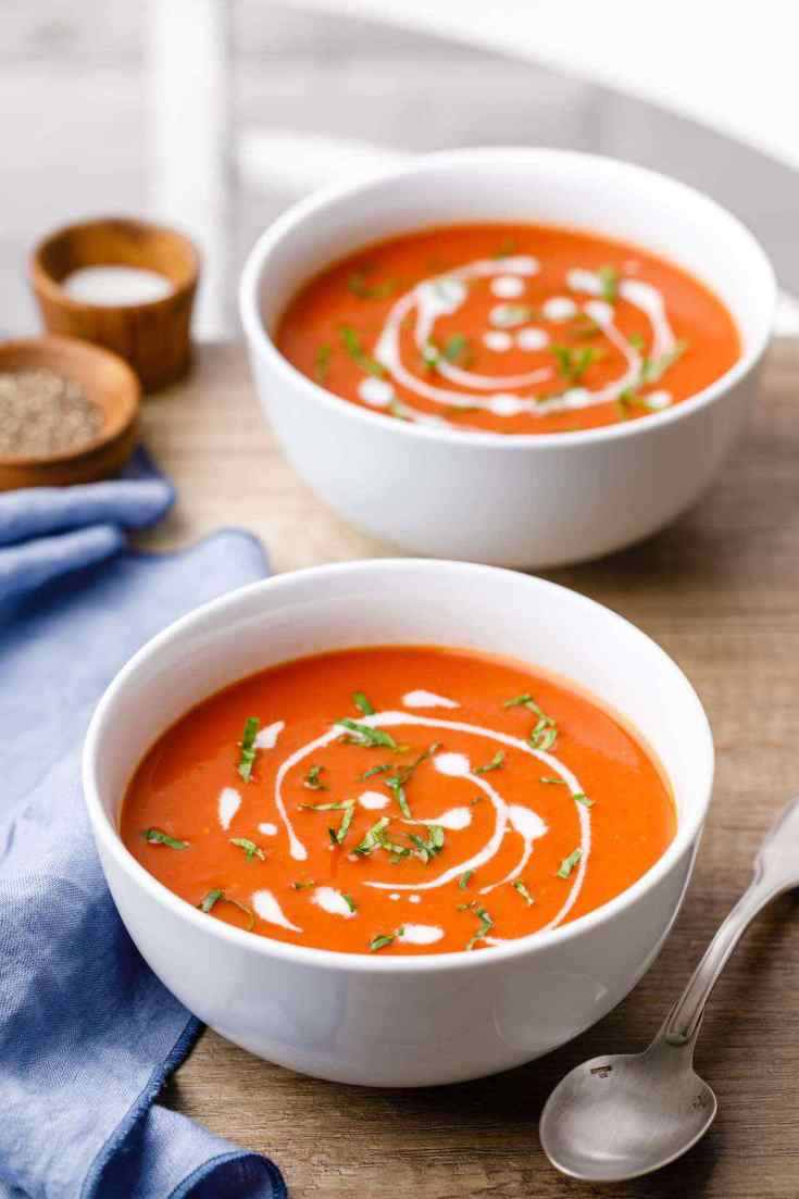 Paleo Crockpot Tomato Basil Soup
