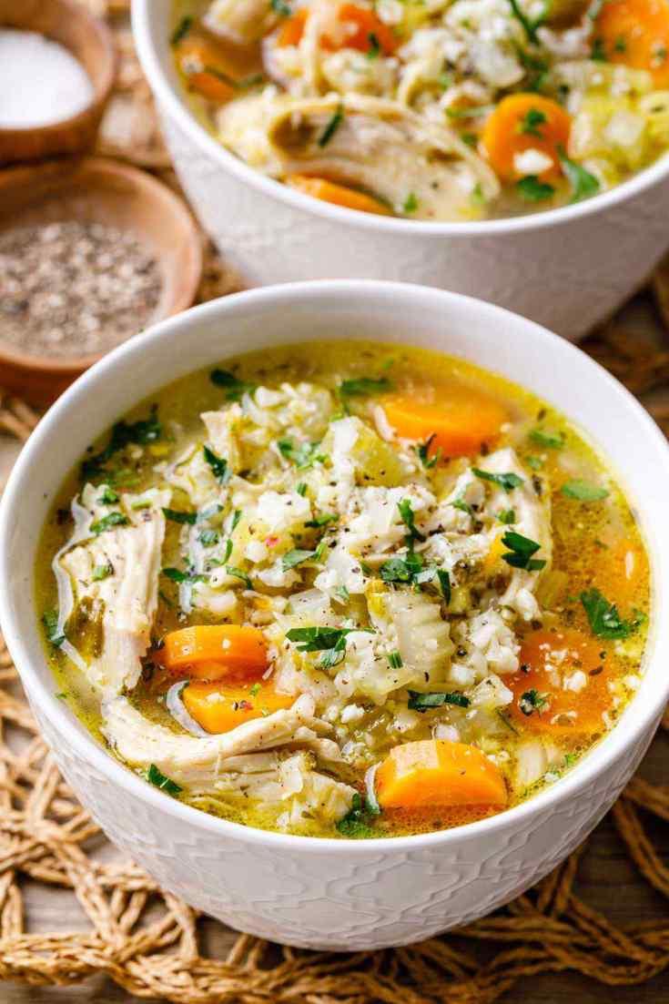 Paleo Instant Pot Chicken Rice Soup